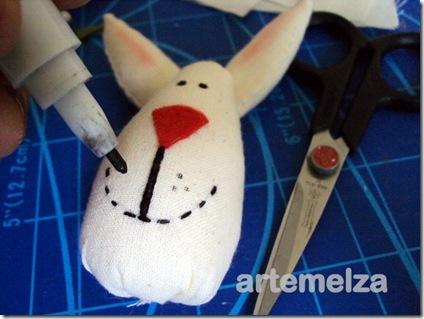 artemelza - coelho de fuxico