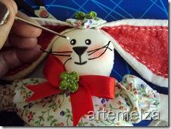 artemelza - boneco coelho de páscoa