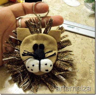 artemelza - chaveiro leão