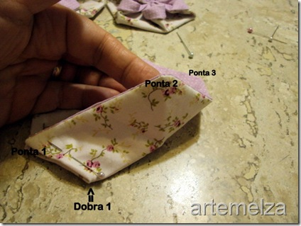 artemelza - flor em hexagono regular