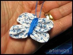 borboleta de fuxico oval
