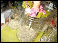 artemelza - pote de vidro enfeitado