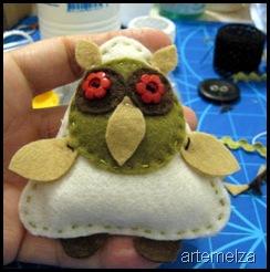 Coudre - Owl feutre