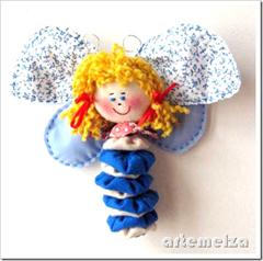 artemelza - borboleta com fuxico e feltro