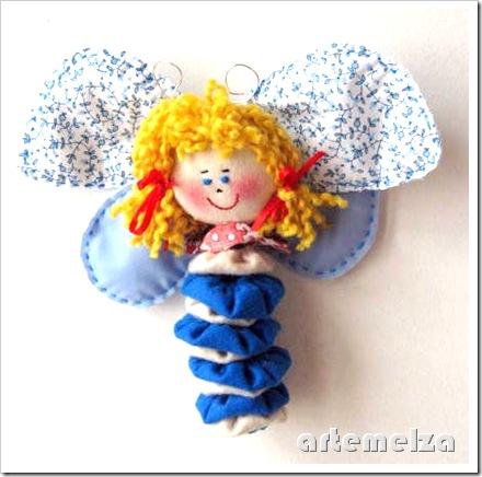 artemelza - borboleta de fuxico e feltro