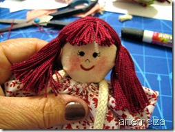 artemelza - boneca de fuxico