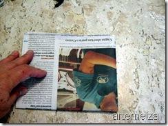 artemelza - recorte de jornal