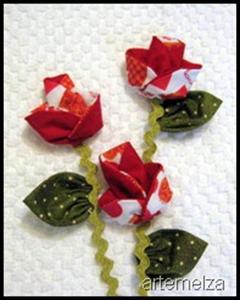 artemelza - flor de fuxico origami