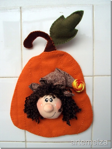 artemelza - bruxinha de halloween