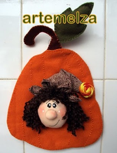 artemelza - bruxinha na abóbora
