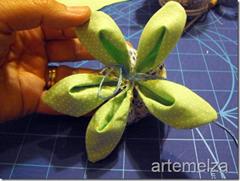 artemelza - flor com tecido duplo