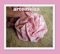 artemelza - rosa feita com pregas