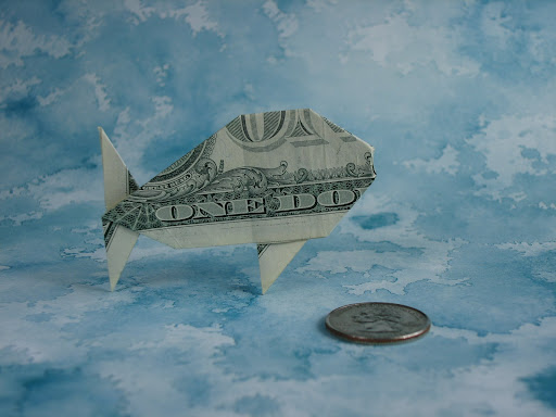 ANIMAL BILL DOLLAR IN ORIGAMI