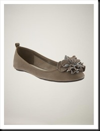 Gap Applique Flower Ballet Flat in Taupe