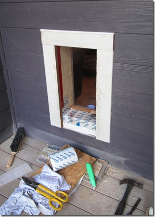 The L Shaped House Carpentrythe Dog Door Day 2