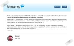 Fiat - Formspring Novo uno