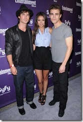 IAN SOMERHALDER + NINA DOBREV + PAUL WESLEY @ the Entertainment Weekly & SyFy 2009 Comic-Con party held @ the Solamar hotel. July 25, 2009