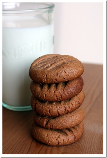 earthy · toasty · spicy: Cocoa Peanut Butter Cookies (Gluten Free)
