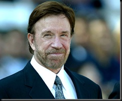 Chuck Norris only smiles after he's killed a virgin
