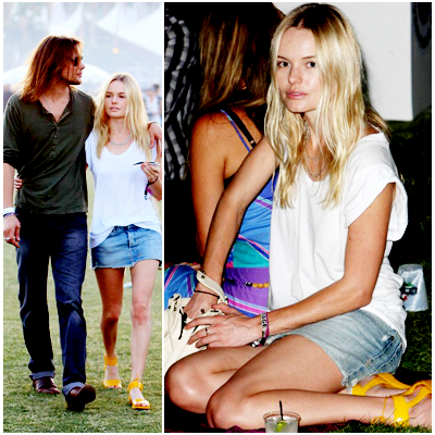 Kate Bosworth and James Rousseau at Coachella Music Festival / Day 3