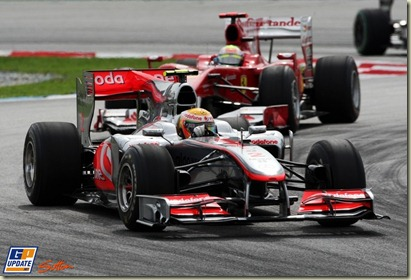 Lewis Hamilton (GBR) McLaren MP4/25  Formula One World Championship, Rd 3, Malaysian Grand Prix, Race, Sepang, Malaysia, Sunday 4 April 2010.