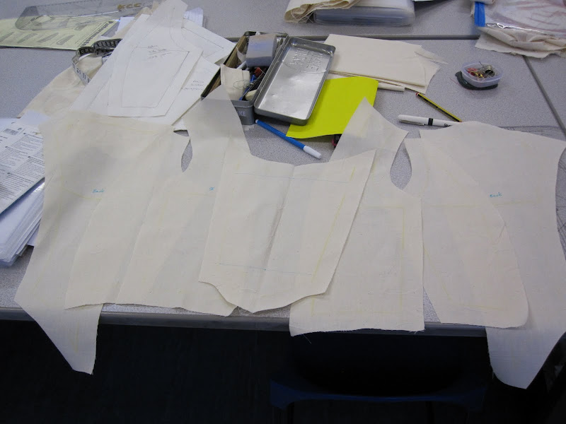Bodice pieces ready to be sewn up