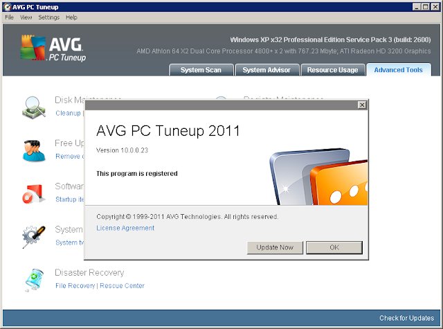 AVG PC Tune-Up 2011