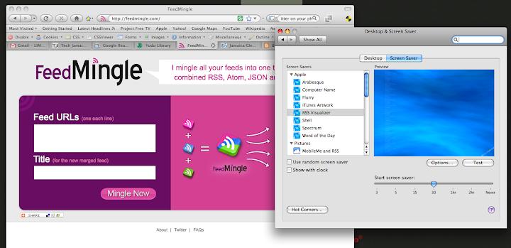 px junkie feed mingle apple s rss visualizer screensaver