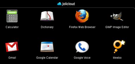 jolicloud الواجهة الرئيسية
