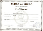 Certificado do meu curso de DOS :P