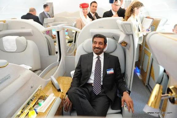 酋长的A380 这座位想什么姿势都没有问题