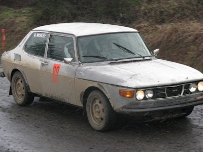 Saab Rally Car At DooWop Rally 2009
