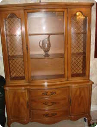 More Than a House: China Cabinet Turned Craft Storage