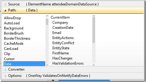 DataForm ItemsSource Binding