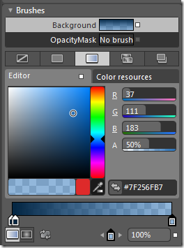 Creating Gradient Brush