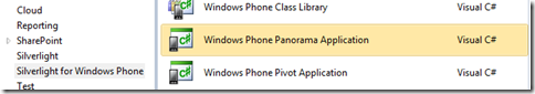 Creating a Windows Phone Panorama Application