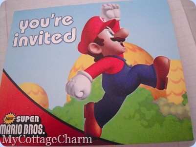 Mario invitation