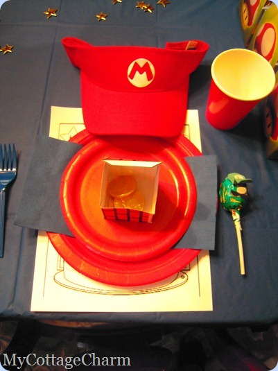 place setting for Mario party