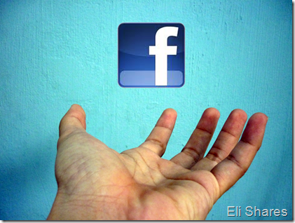 Hand - with FB logo