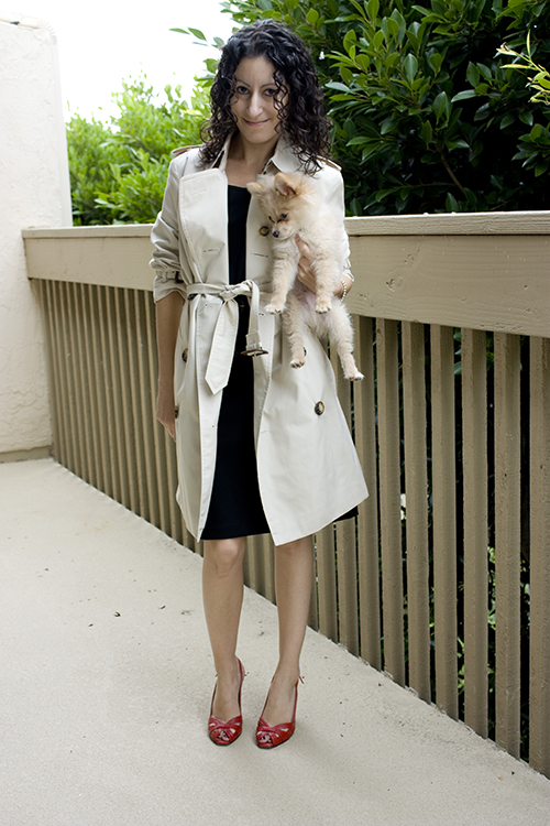 Petite Henrietta Pertuz and Burberry Trench