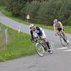 Så Rasmus Henning afsted i front i en tomands gruppe - fuld fart!