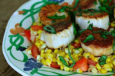 Seared Scallops With Spiced Corn & Tomato Succotash ...