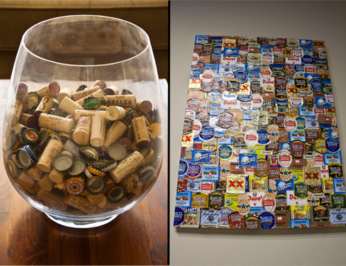 Beer Label Wine Cork Art