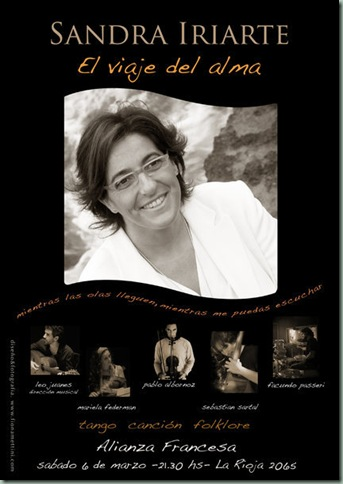 Afiche - Sandra Iriarte