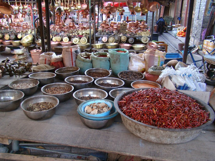 The market in Lijiang, Yunnan province, China
