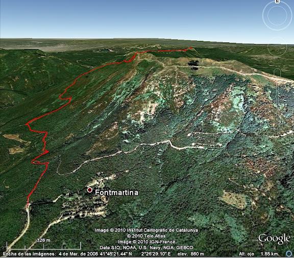 Ascenso a Les Agudes desde Fontmartina por el GR 5-2 iti01