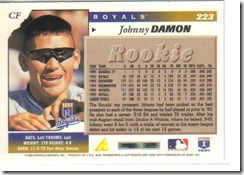 Johnny Damon Score Back