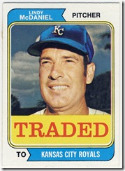 74 Traded Lindy McDaniel