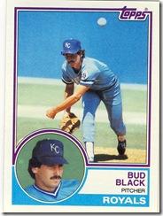 Bud Black Topps 83