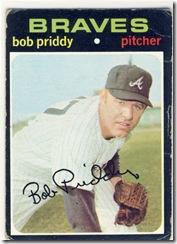 Topps 71 Bob Priddy